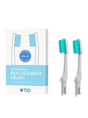 Tandbørstehoveder soft grå 2 stk TIO