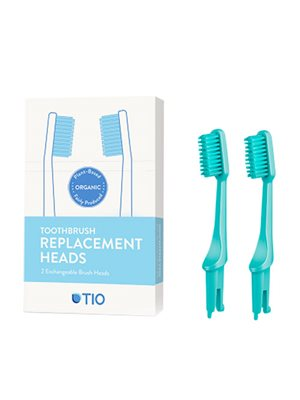 Tandbørstehoveder soft grøn  2 stk TIO