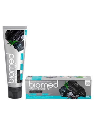 Tandpasta biomed charcoal  triple cleaning