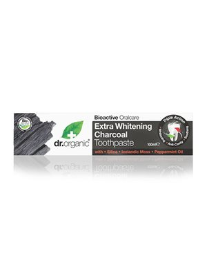Tandpasta Extra Whitening  Charcoal Dr. Organic