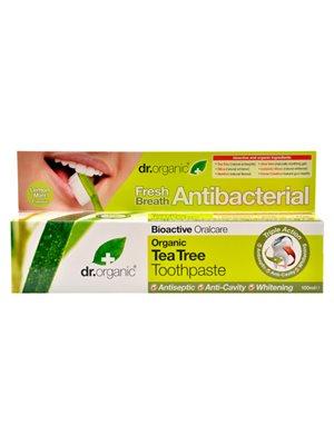 Tandpasta Tea Tree Dr. Organic Indeholder flour
