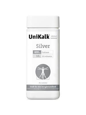 UniKalk Silver m. D vitamin 400 mg. calcium + 10 mcg D-vitamin