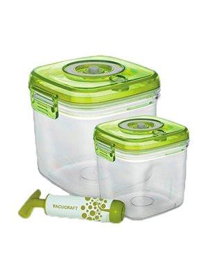 Vakuumbeholder til madvare  2 i et sæt 1,3L/2,5L incl. pumpe