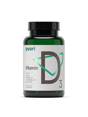Vitamin D3 62,5mcg i kokosolie Puori