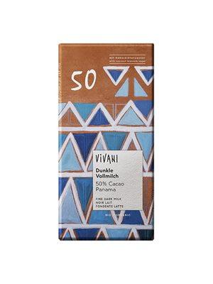 Vivani Chokolade 50% Ø mælk,   mørk Santo Domingo