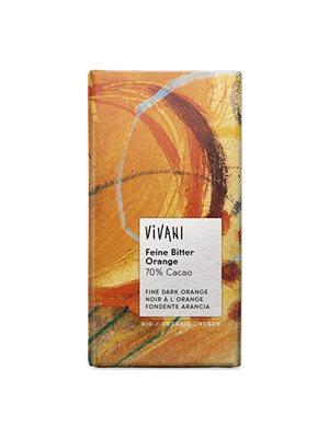 Vivani chokolade bitter Ø  m. orange 70% Kakao