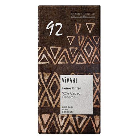Vivani ekstra mørk Ø chokolade 92% kakao