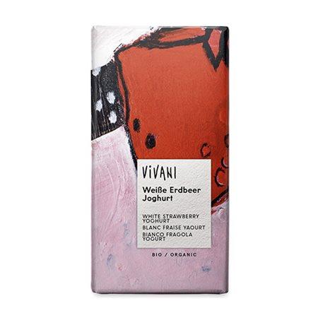 Vivani hvid jordbær yoghurt Ø chokolade