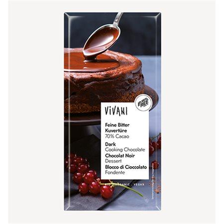 Vivani Kouverture overtrækschokolade mørk Ø Chokoladeovertræk