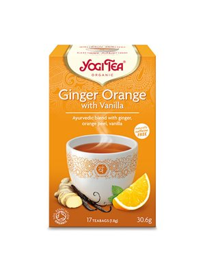 Yogi Tea Ginger orange with  vanilla Ø