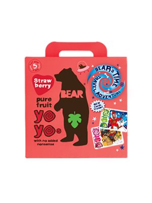 Yoyo multipak jordbær Bear pure fruit 5x20 gr